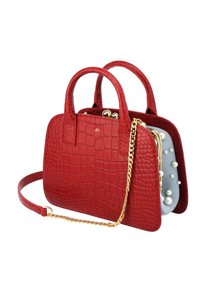 [under82] GRACE PEARL TOTE_RED