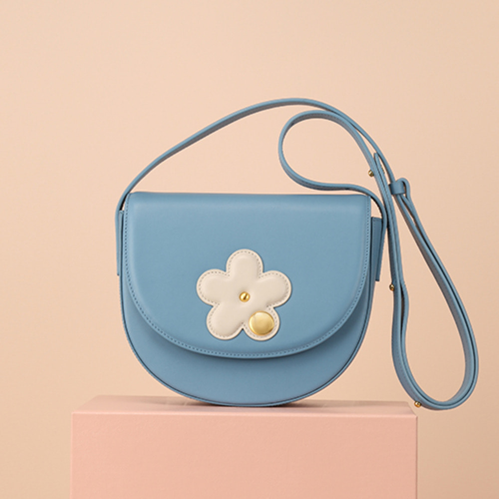 CAMILLA MINI FLOWER SHOULDER BAG_SKY